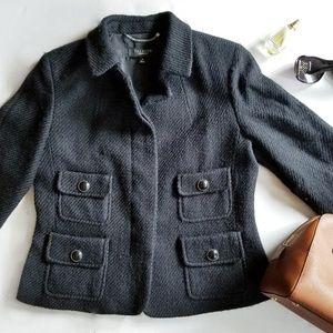 Talbots Black Tweed Formal Business Jacket